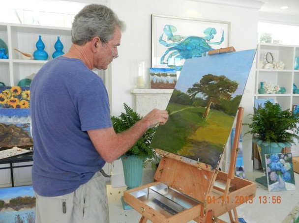 The master at his easel.